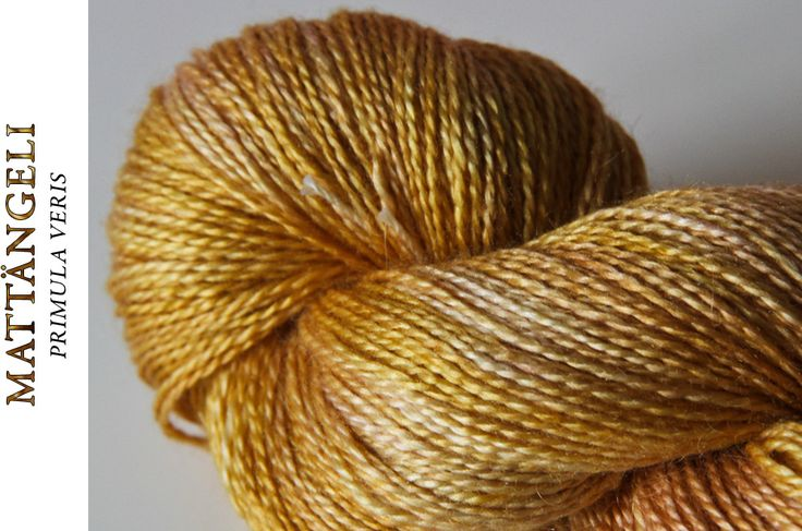 "Siide-Füürneem - hand-dyed, silk-rocal alpaca, colourway ""Mattängeli"""