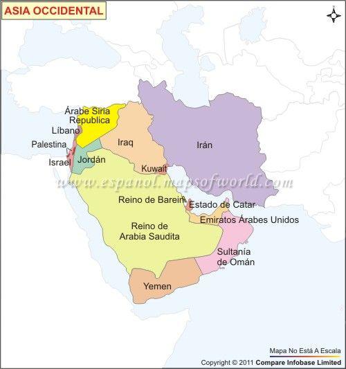 Mapa Político de Asia Occidental