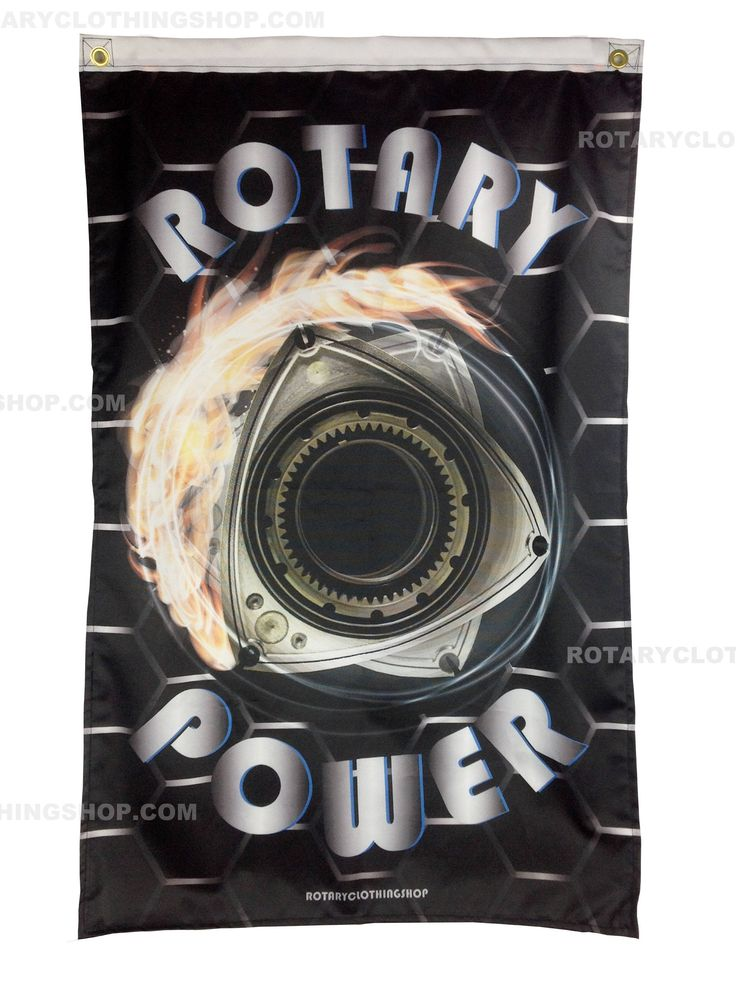 Rotary Power Flag - Wankel Banner- Rotary Engine  - Limited Edition- Racing Flag - Mazda Flag- Rx7 - Rx8 - Rx3 - Cosmo by ROTARYCLOTHINGSHOP on Etsy