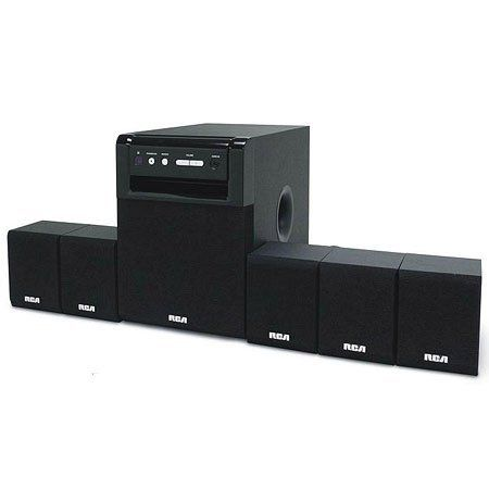 Home Theater System by RCA. $65.89. Home Theater System - 80W Surround Sound System - Amplifier, Audio Jacks and Controls Built into the Subwoofer - Five Speakers Plus Amplifier-Subwoofer - Compatible with DVD/CD Players - Computers and Game Consoles - Two Sets of RCA-type Audio Inputs on Rear - Line-in Audio Jack on Front - Easy Color-coded Speaker Setup***This item is expected to deliver in 4-10 business days. Tracking information is usually sent within 3-5 business days from t...
