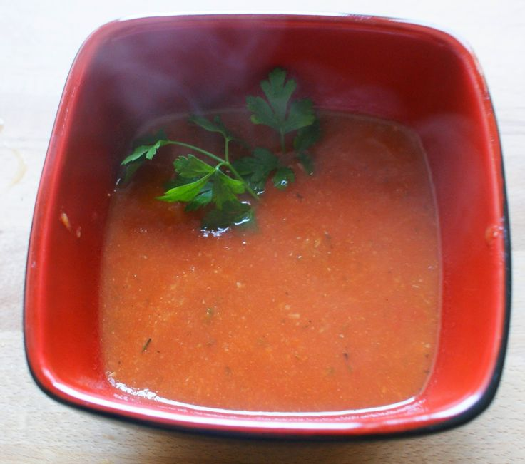 Zdrowo zakręcona: Detoks warzywno-owocowy - dzień drugi zupa krem pomidorowo-cukiniowy