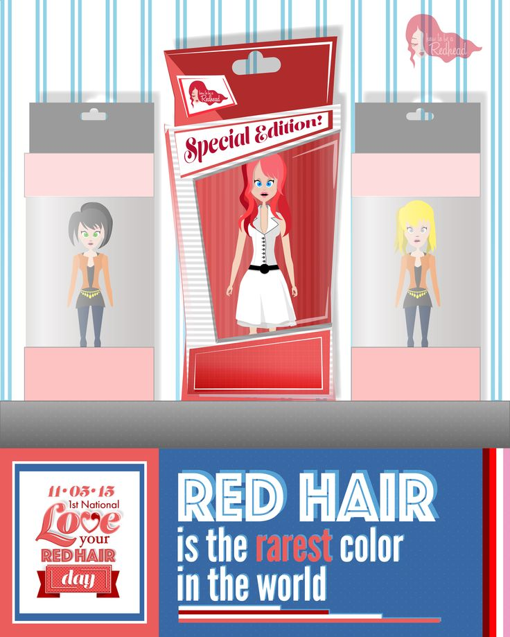 Red hair is the rarest color in the world! Celebrate your red hair with us on November 5th – National Love Your Red Hair Day!