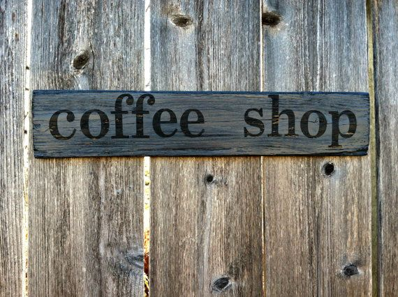 Wooden Kitchen Wall Decor : Made to order distressed coffee wooden sign rustic
