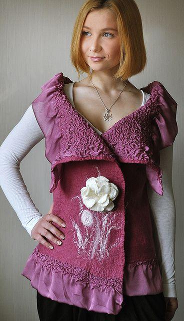 Felted vest - Jelena Ost/ShellenDesign | Flickr