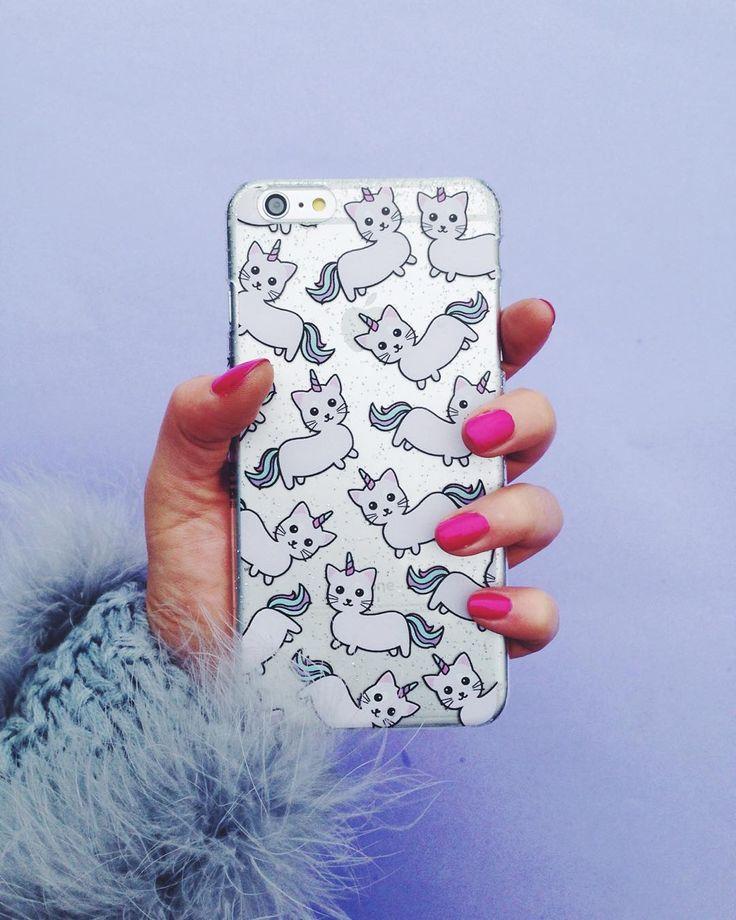 Skinny Dip Londons Caticorn (half cat half unicorn - duh) Phone Case!! ♡♥♡♥♡♥ #PhoneCases #caticorn #unicorn #kawaii
