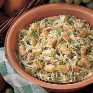 Pineapple Coleslaw  I think I would prefer crushed pineapple well drained . I think it would be great to add a few slivered almonds or pecans right before serving also !