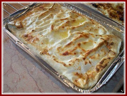 pasticcio di lasagne al ragu' di broccoli