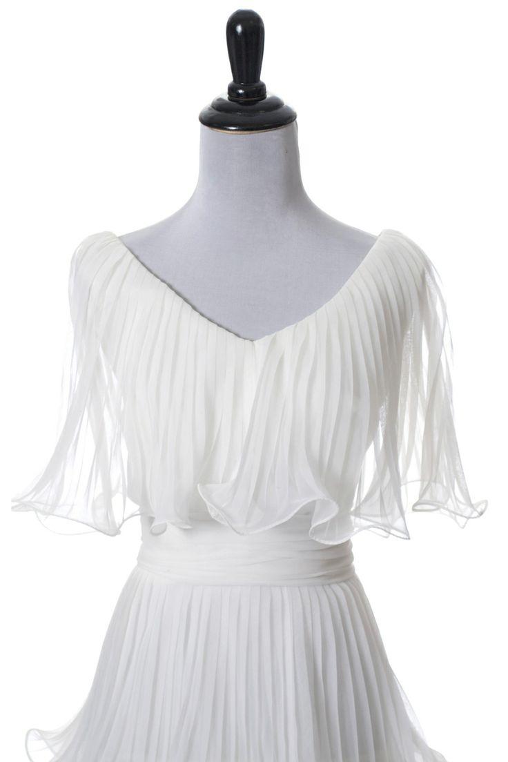Dressing Vintage - Lilli Diamond vintage dress white ruffled layered wedding dress, $275.00 (http://dressingvintage.com/lilli-diamond-vintage-dress-white-ruffled-layered-wedding-dress/)