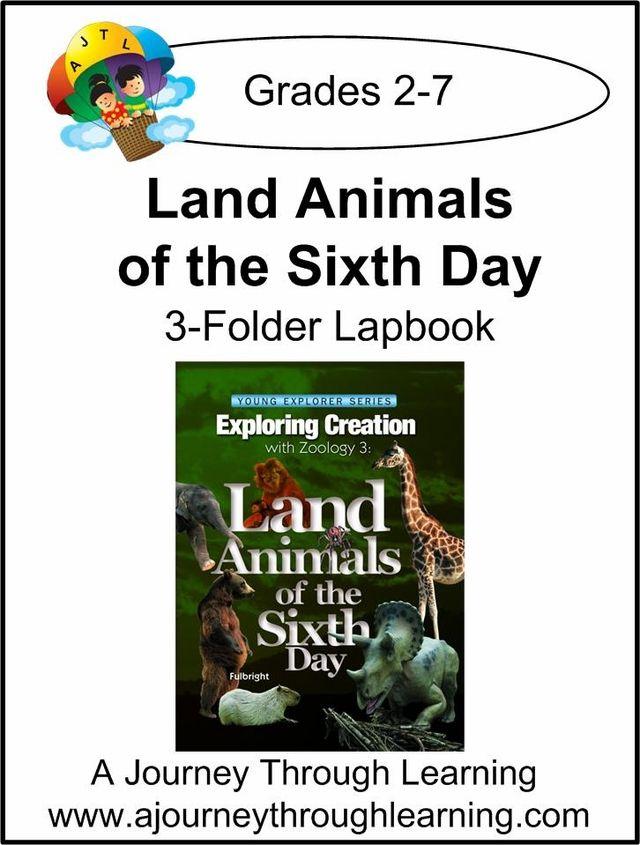 Apologia Land Animals Of The Sixth Day 3 Folder Lapbook