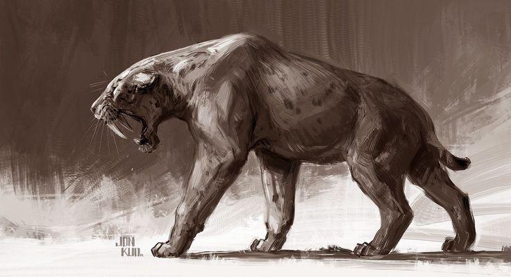 ArtStation - Smilodon aka sabertooth and , Jonathan Kuo