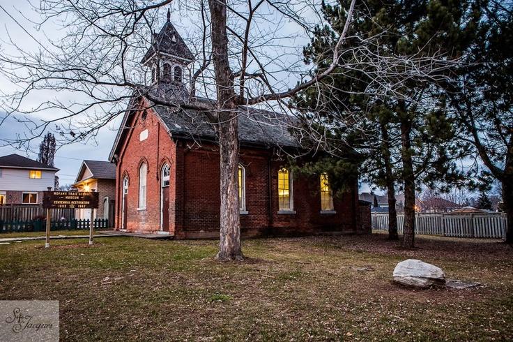 Mohawk trail School house. One room school house. Built in 1867. Hamilton, Ontario 2012.