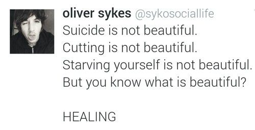 Oliver Sykes Quote, This is very true why don't people understand that these things are very dangerous?
