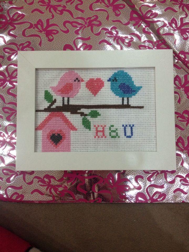 Bird, handmade, crossstitch, xstitch, kanavice, etamin
