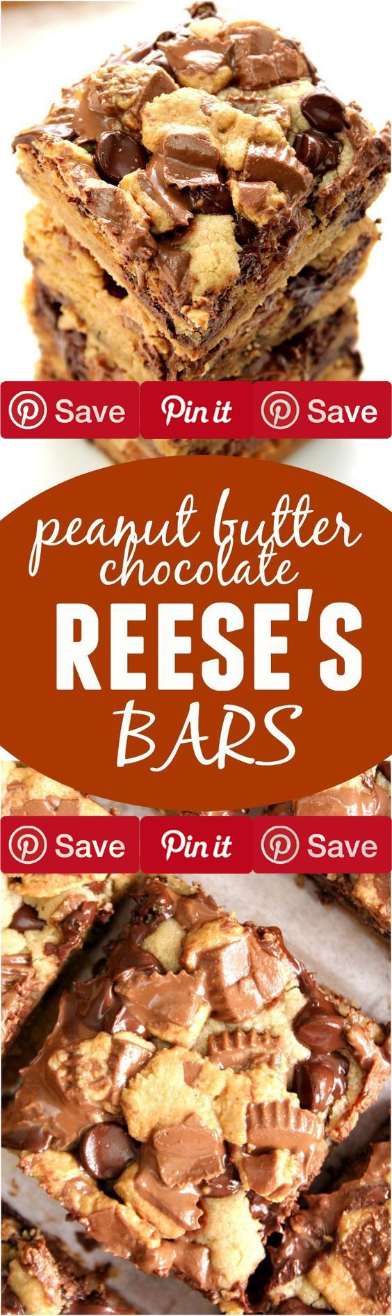 http://bestkitchenequipmentreviews.com/best-knife-sets/ Peanut Butter Chocolate Reeses Bars 36 mins to make serves 9 Ingredients #sweets Vegetarian Refrigerated 1 Egg large Condiments  cup Peanut butter creamy 8 Reeses peanut butter cups Baking & Spices 2 cups All-purpose flour 1 tsp Baking soda  cup Brown sugar packed 1 tbsp Cornstarch  cup Granulated sugar  tsp Salt 1 cup Semi-sweet chocolate chips 1 tsp Vanilla extract Dairy 6 tbsp Butter unsalted