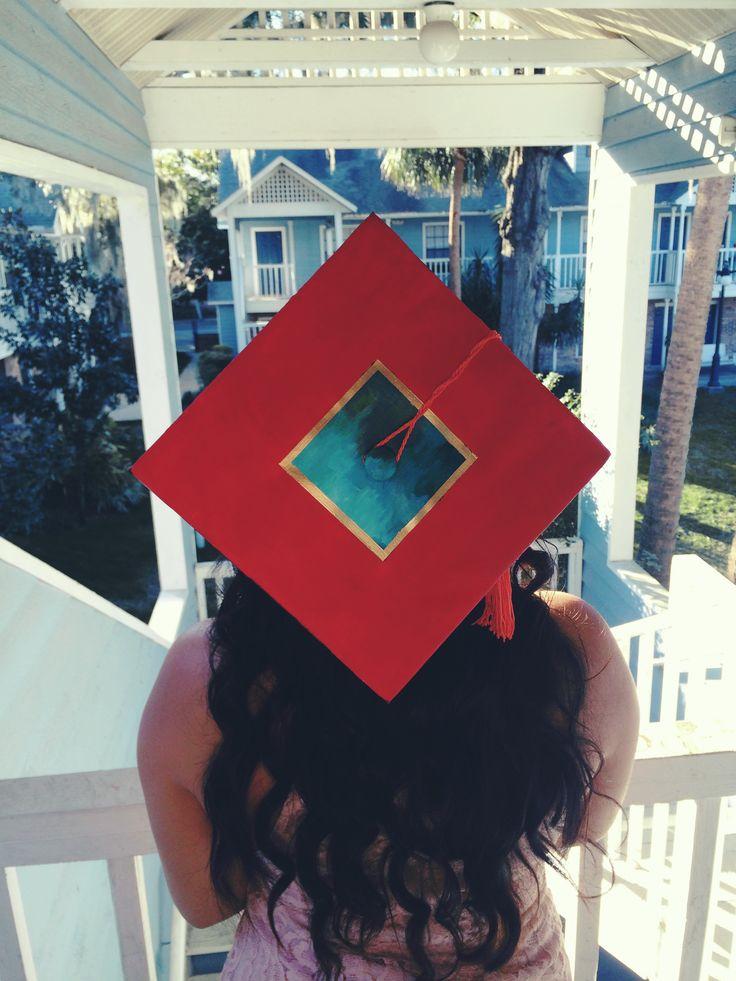 My Beautiful Dark Twisted Fantasy Kanye West album cover graduation cap