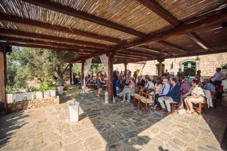 Wedding ceremony area at traditional private estate in Crete. Moments. www.weddingincrete.com