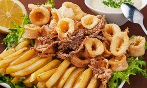 Groupon - Menu di 3 portate con 1 kg di frittura mista di pesce e vino (sconto 63%)  a La Perla. Prezzo Groupon: €24,90