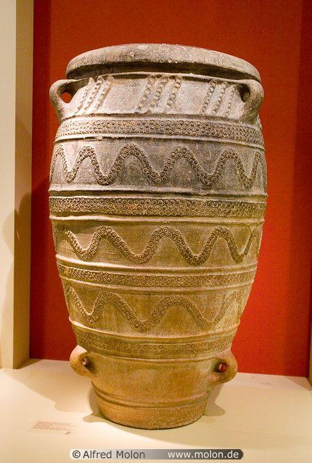 Storage Jar From Knossos Palace Minoan Culture Grecia ώ Greek Pottery Minoan Art