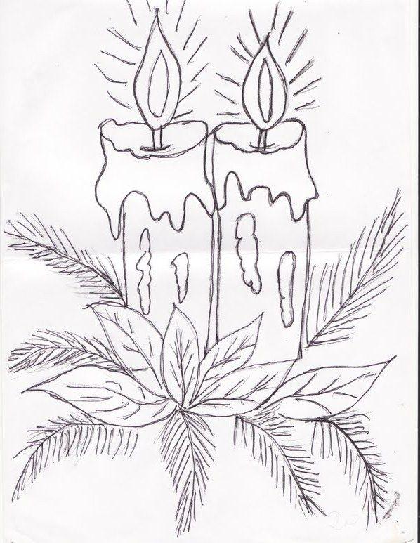 Сделать, нарисовать карандашом открытку на новый год