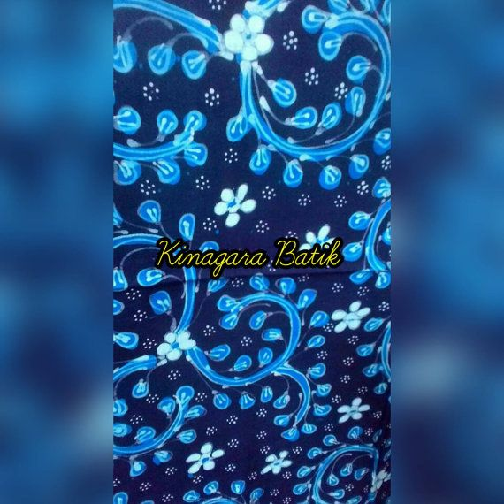 Check out this item in my Etsy shop https://www.etsy.com/listing/487805478/blue-hand-written-indonesia-batik