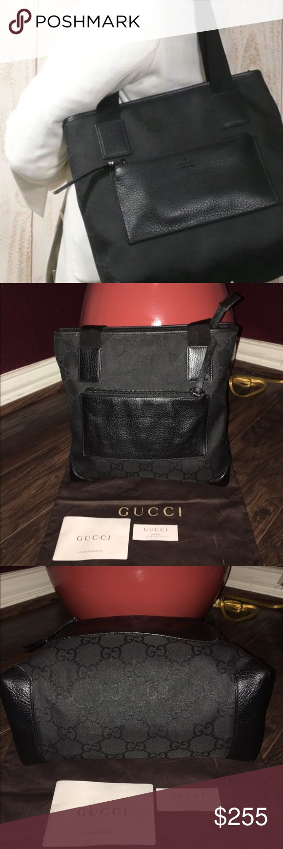 Authentic Gucci bag This purse is in perfect condition I bought it a few days ago from another posher she had it listed as new with tags,I never wore the bag so it's brand new the purse is beautiful but just not what I'm looking for so still shopping and hoping this can go to someone who will love it only looking to sell I don't trade dust bag included Gucci Bags Totes