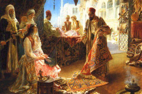 Addison Thomas Millar (1850 – 1913) 'The bazaar'