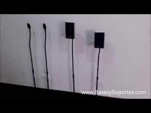 Soporte de piso para parlantes speaker bocinas de teatro casa Home Teather