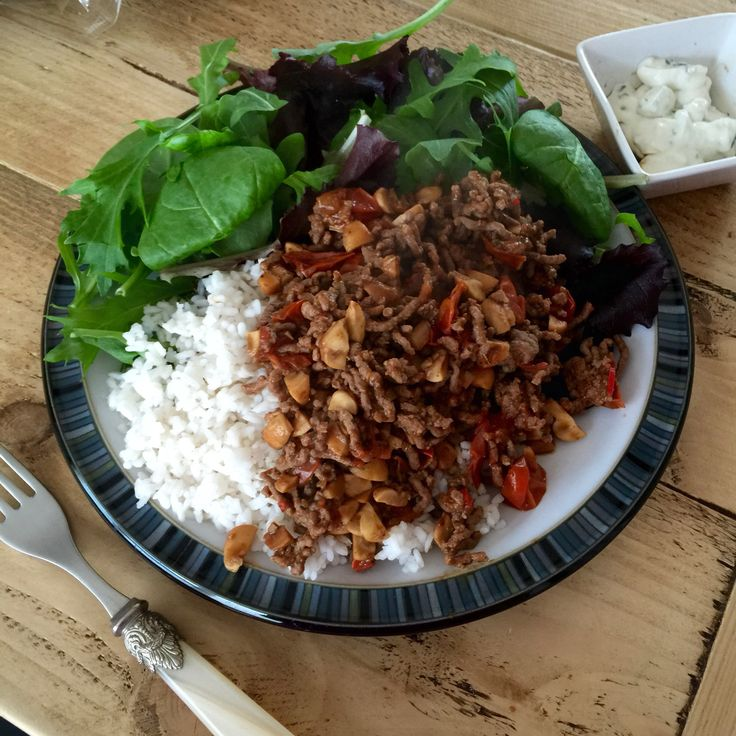 Cycle 2 training day meal, extra lean mince, spag bowl style with rice and spinach on the 90 Day SSS plan with The Body Coach