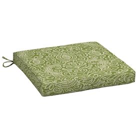 Arden Outdoor Green Stencil Reversible Outdoor Seat Pad