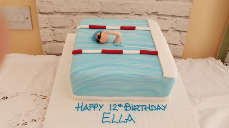 A cake for a swimmer #swimmingcake #Cannaboe #Tridentswimclub