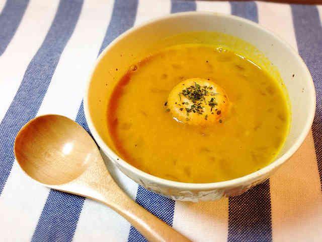ミキサーなし♪牛乳で濃厚かぼちゃスープの画像