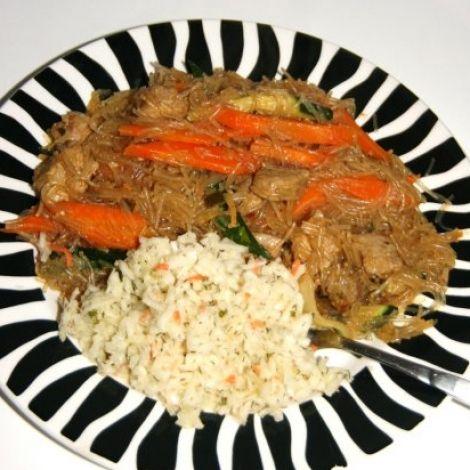 Leckeres Glasnudel Rezept mit Rindfleisch      #kochen #rezepte #kochrezepte #asien #china