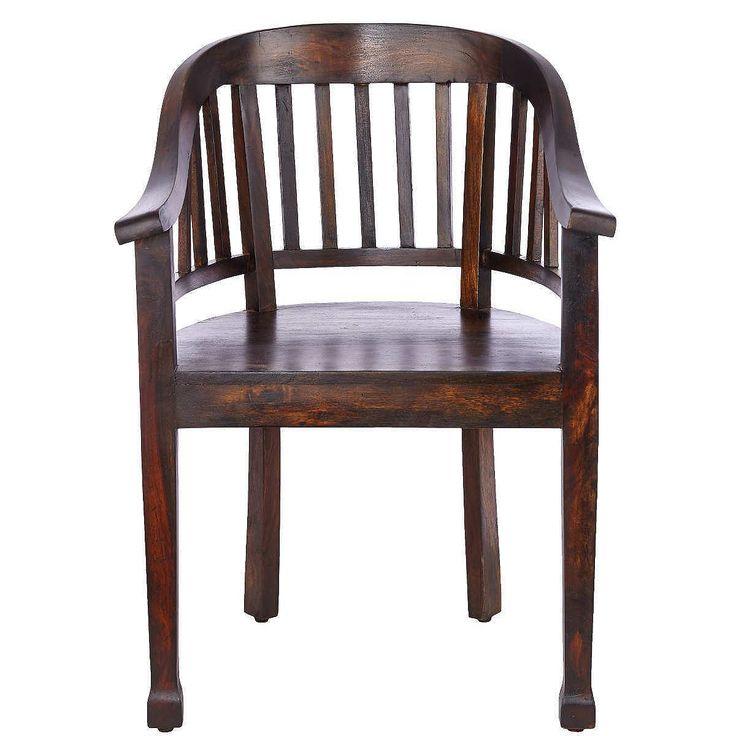 HOPKINS Lehnstuhl    Der Hopkins-Lehnstuhl fühlt sich nicht nur beim Sitzen gut an, sondern auch beim Anfassen: Die schön geschwungene Rückenlehne und der Handlauf sind ganz glatt, richtige Handschmeichler eben. Da streicht man gerne im Vorbeigehen mal drüber. Weitere Hopkins-Möbel im altenglischen Stil erhältlich - in mittlerem bis dunklem Holz.    Größe: Breite 55 x Tiefe 54 x Höhe 81 cm, Sit...