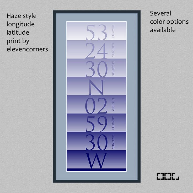 Personalized longitude latitude print | custom travel print | housewarming gift | new home gift | GPS coordinates print | traveler poster by elevencorners on Etsy #elevencorners
