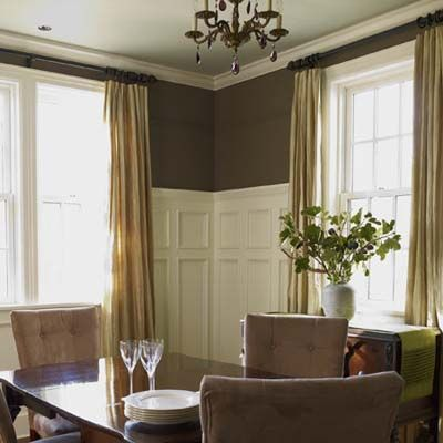 Six-foot-tall paneling adds a hefty dose of old-house charm while a palette of creamy white and chocolate brown warms up the space. | Photo: Wendell T. Webber | thisoldhouse.com