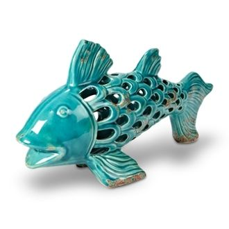 Laying Fish Turquoise