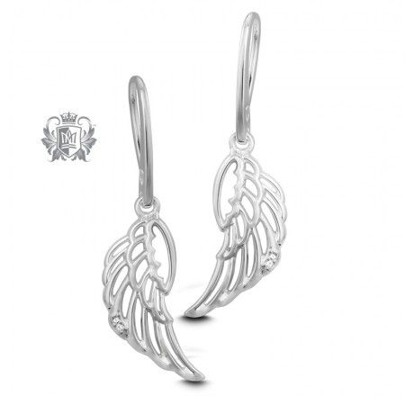 Angel Wing Diamond Earrings | Metalsmiths Sterling™