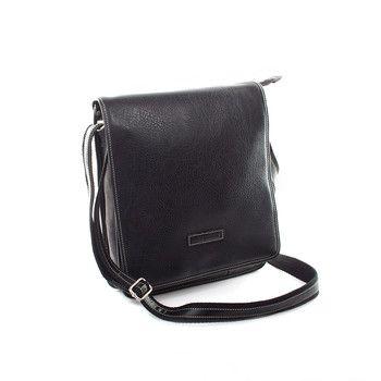 #Hexagona Černo-šedá pánská taška Hexagona. Uvnitř – hlavní kapsa na zip, dále jedna kapsa na zip a dvě bez zipu. Zepředu – pod klopou je kapsa na zip, kapsa na suchý zip, kapsa bez zipu. Zezadu – kapsa na zip. Součástí tašky je nastavitelný popruh v kombinaci koženka + textil.