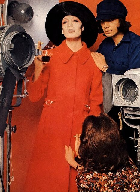 Model Angelica Huston is wearing a creation of Lanvin and photographed by Bourdin.Vogue Paris,September 1971.