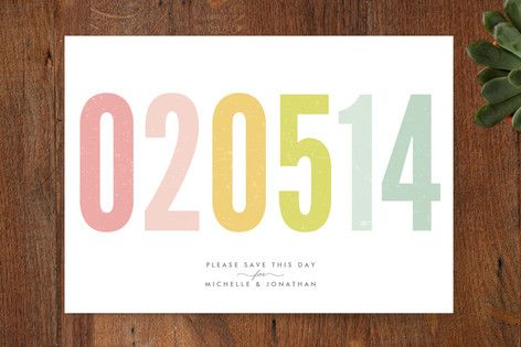 Make your guests save the HECK out of your date with these Minted save the date designs