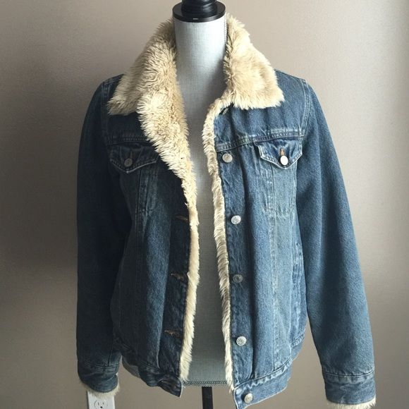 Best 25  Fur lined denim jacket ideas on Pinterest   Fur denim ...