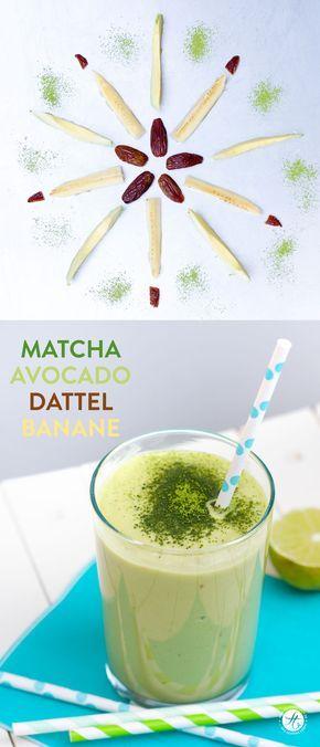 Smoothie-Montag 12: Matcha-Avocado-Dattel-Banane Smoothie & Bekanntgabe der Gewinner!! | feiertäglich…das schöne Leben