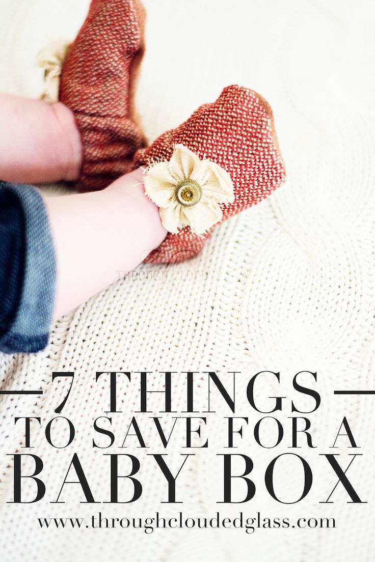 7 Things To Save For A Baby Box | Through Clouded Glass