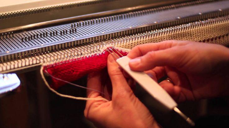 Legge opp med nylontråd - Cast on with a nylon thread