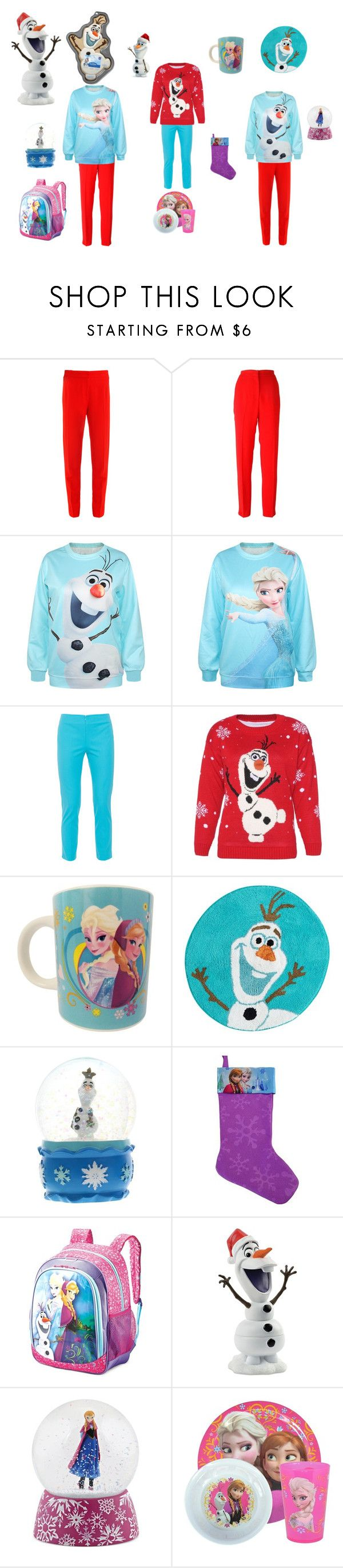 frozen kit by alicejudo on Polyvore featuring mode, Disney, MSGM, Raoul, Peace of Cloth, American Tourister, Department 56 and Jay Franco & Sons