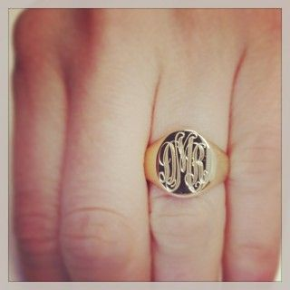 A Monogram Signet Ring: A True Custom Heirloom