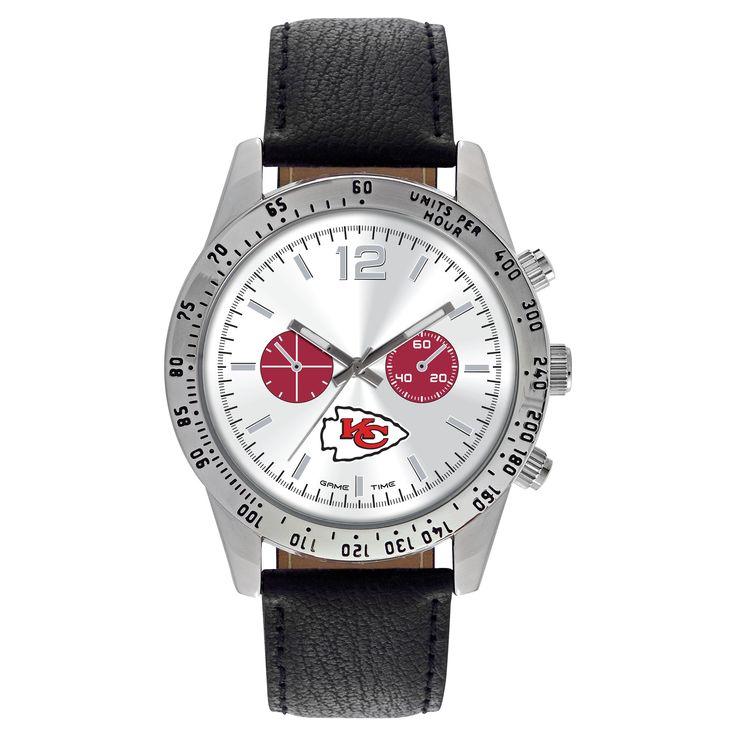 Men's Game Time NFL Letterman Sports Watch - Black - Kansas City Chiefs
