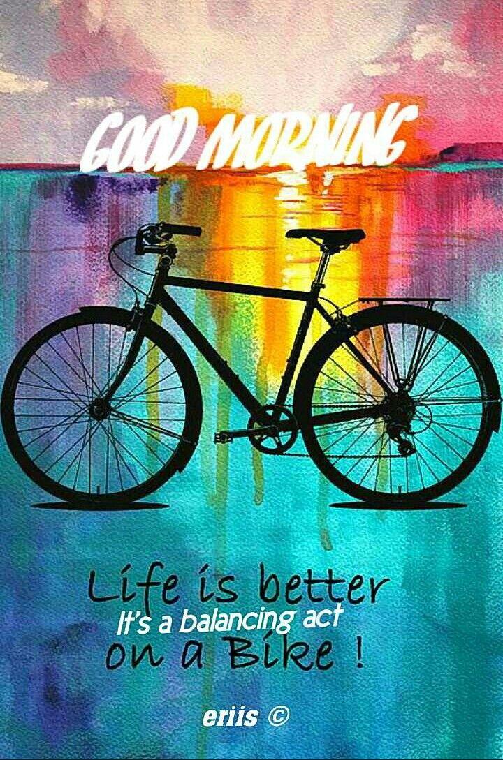 Good Morning Bike Art Cycling Art Bicycle Art