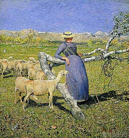 Pomeriggio sulle Alpi (1893) - Giovanni Segantini