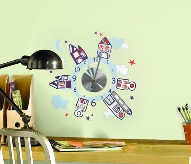 Sticker ceas Houses At Night perfect pentru completarea decorului camerei!